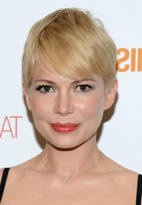Most Current Blonde Pixie Haircuts Within Short Blonde Pixie Haircut With Side Swept Bangs For Fine Hair (View 13 of 20)