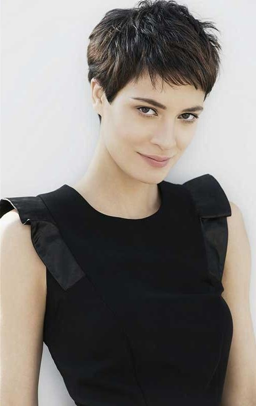 Most Pertaining To Famous Pixie Haircuts For Dark Hair (View 5 of 20)