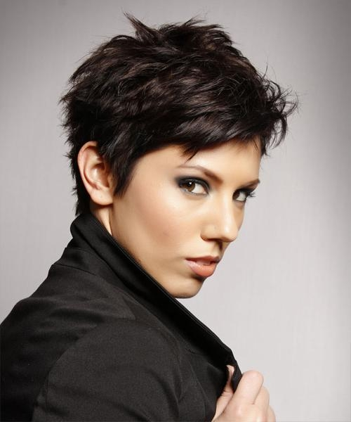 Most Popular Brunette Pixie Haircuts Pertaining To Pixie Hairstyles And Haircuts In  (View 8 of 20)