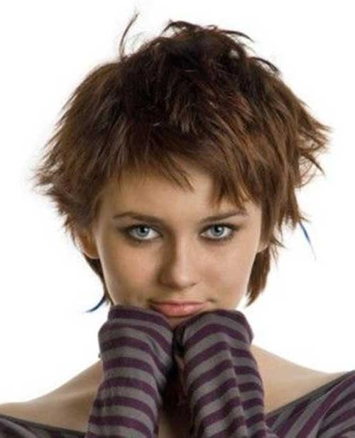 Most Popular Inside Well Liked Choppy Pixie Haircuts (View 10 of 20)