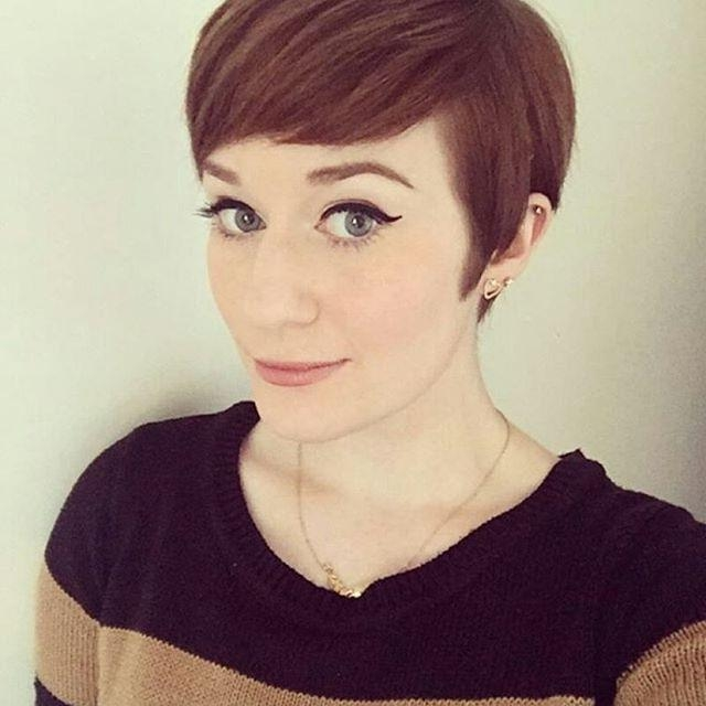 Most Popular Pixie Haircuts With Bangs With Regard To 21 Gorgeous Short Pixie Cuts With Bangs (View 16 of 20)