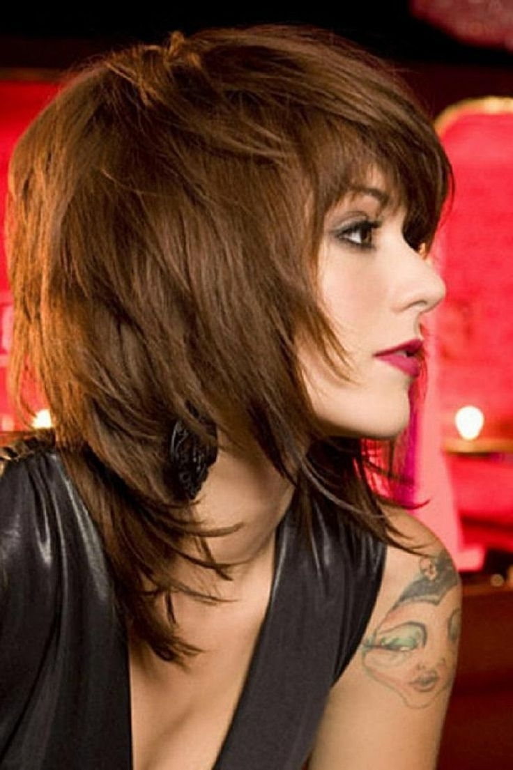 Most Popular Shaggy Hairstyles Inside Best Shag Haircuts Ideas For Mid Length Hair With Side Bangs (View 9 of 15)