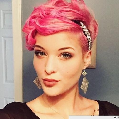 Most Recent Pink Pixie Haircuts Throughout 50 Best Curly Pixie Cut Ideas That Flatter Your Face Shape (View 9 of 20)