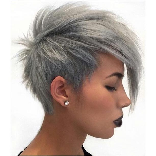 Most Recently Released Grey Pixie Haircuts Intended For 18 Simple Easy Short Pixie Cuts For Oval Faces – Short Haircuts  (View 11 of 20)