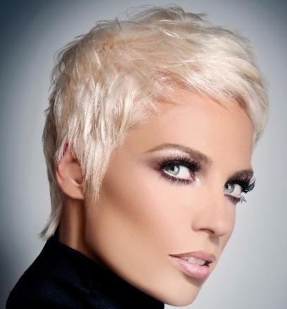 Most Recently Released Platinum Pixie Haircuts Pertaining To Straight Blonde Pixie Hairstyle – Casual, Summer, Everyday (View 4 of 20)