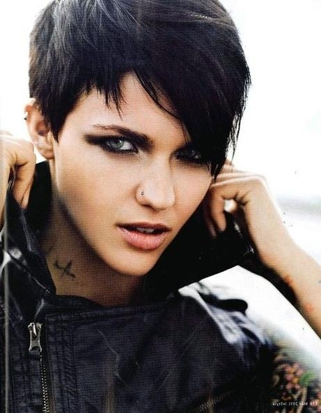 Most Recently Released Short Edgy Pixie Haircuts Throughout Edgy Pixie Haircuts: Straight Hair – Popular Haircuts (View 8 of 20)