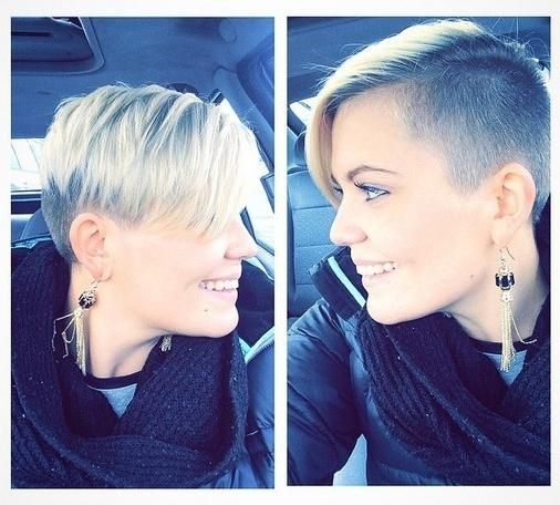 Most Up To Date Pixie Haircuts With Shaved Sides Intended For 33 Cool Short Pixie Haircuts For 2018 – Pretty Designs (View 13 of 20)