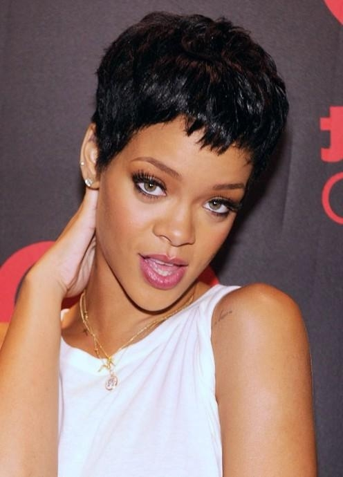 Most Up To Date Rihanna Pixie Haircuts Regarding Rihanna – Hairstyles Weekly (View 9 of 20)