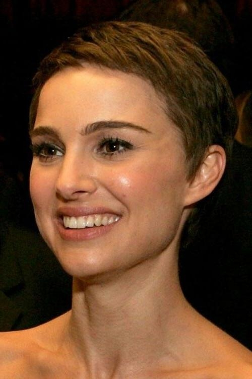 Natalie Portman Short Haircut: Ultra Short Pixie Crop – Pretty Designs Regarding Newest Crop Pixie Haircuts (View 5 of 20)