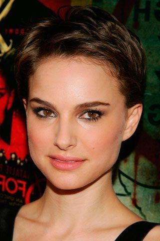Newest Brown Pixie Haircuts With Natalie Portman Short Haircut: Brown Pixie Wavy Cut – Pretty Designs (View 11 of 20)