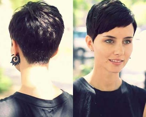 Newest Brunette Pixie Haircuts Intended For 10 Short Layered Pixie Cut (View 13 of 20)