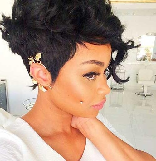 Newest Pixie Haircuts For Black Hair Regarding 20 Pixie Cut For Black Women (View 13 of 20)