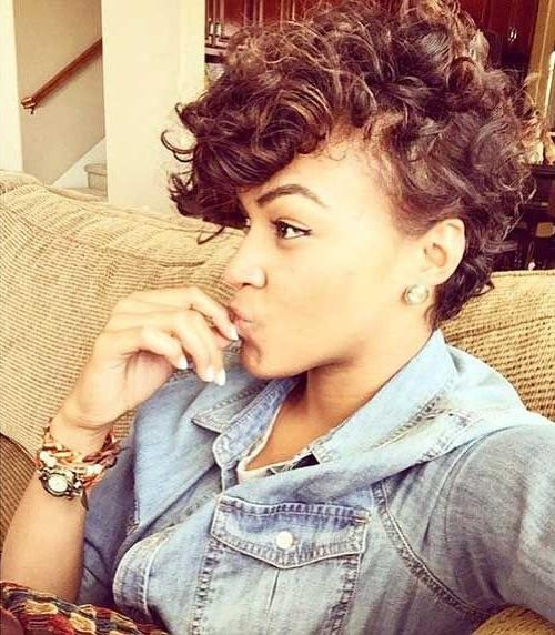Newest Pixie Haircuts For Curly Hair Regarding Best 25+ Pixie Cut Curly Hair Ideas On Pinterest (View 10 of 20)