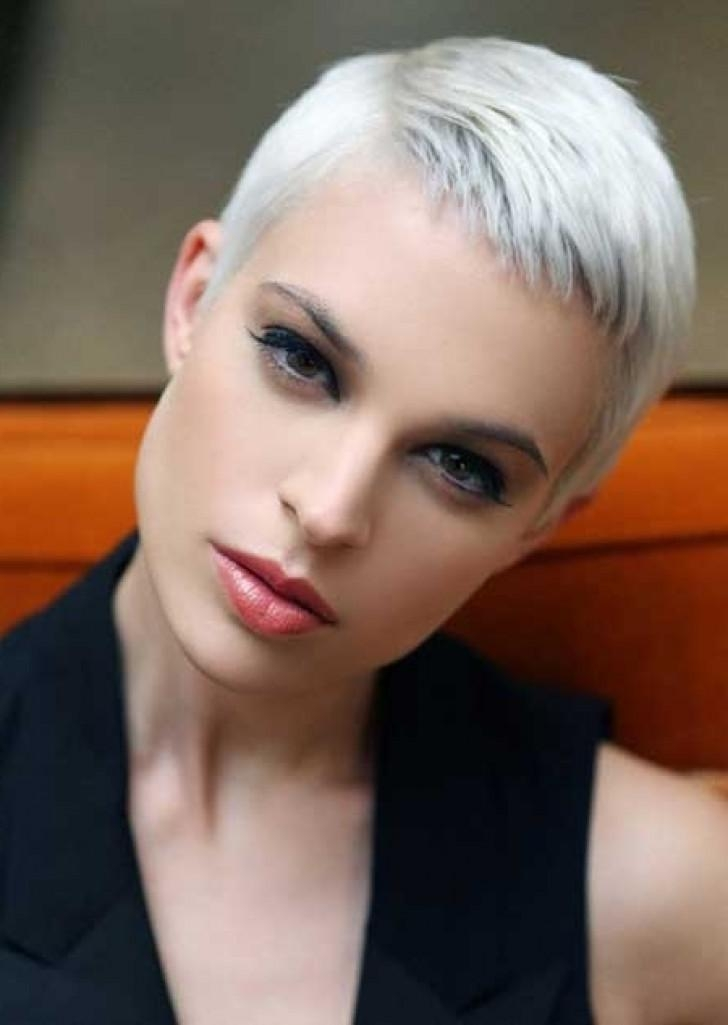 Newest Platinum Pixie Haircuts Regarding Best Pixie Cuts Short Hairstyles Very Short Platinum Hairstyles (View 12 of 20)