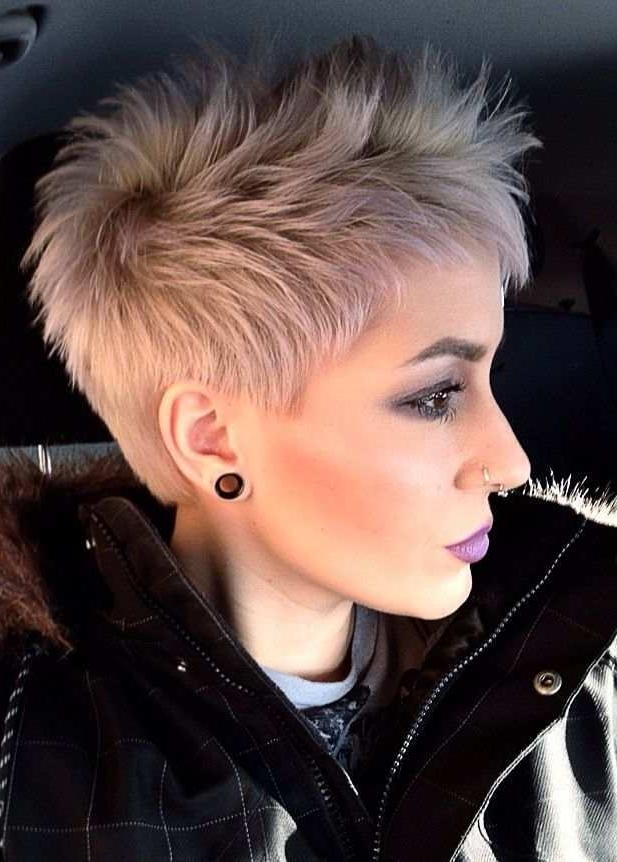 Opt For The Best Short Shaggy, Spiky, Edgy Pixie Cuts And Hairstyles With 2017 Spiky Pixie Haircuts (Gallery 17 of 20)