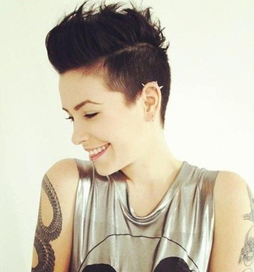 Photo Gallery Of Short Edgy Girl Haircuts (Viewing 3 Of 15 Photos) Regarding Most Current Punk Pixie Haircuts (View 13 of 20)