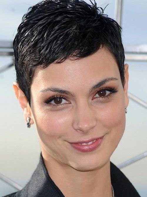 Photo Gallery Of Super Short Hairstyles For Round Faces (viewing 7 Pertaining To Most Recent Super Short Pixie Haircuts (View 13 of 20)