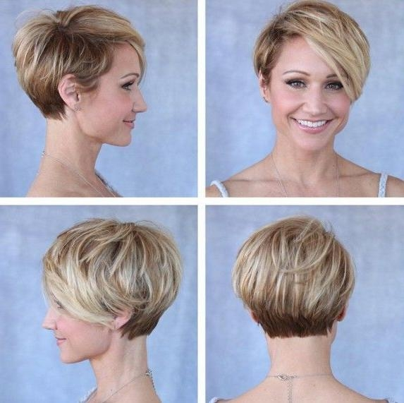 Photo Gallery of Short Stacked Pixie Haircuts (Viewing 12
