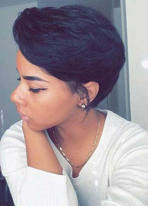 Pixie Cut 2015 Inside Current Pixie Haircuts For Black Hair (View 14 of 20)