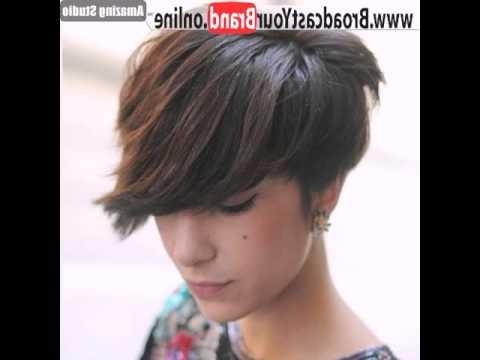 Pixie Cut With Long Side Swept Bangs – Youtube With Best And Newest Pixie Haircuts With Long Side Swept Bangs (View 7 of 20)