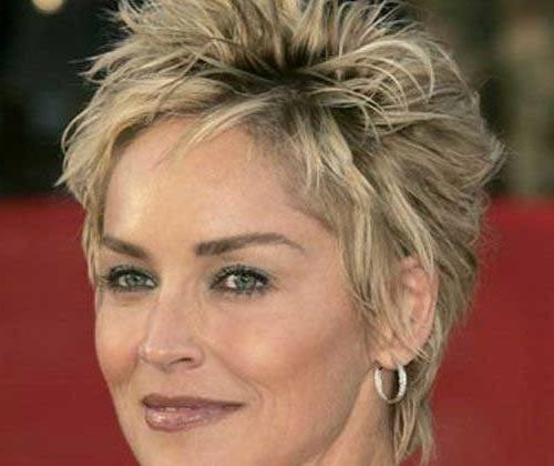 Photo Gallery Of Sharon Stone Pixie Haircuts Viewing 8 Of 20 Photos