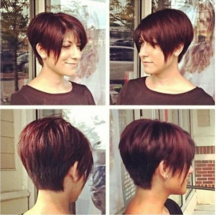 Pixie Haircut For Red Hair Intended For Widely Used Short Stacked Pixie Haircuts (View 13 of 20)