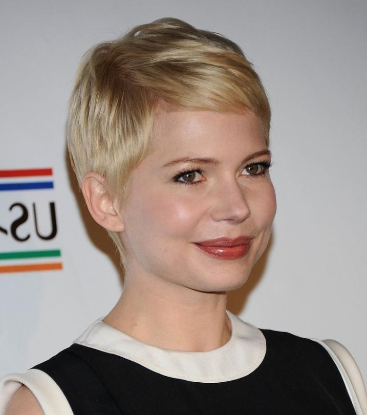 Photo Gallery Of Pixie Haircuts For Round Face Shape Viewing 9 Of