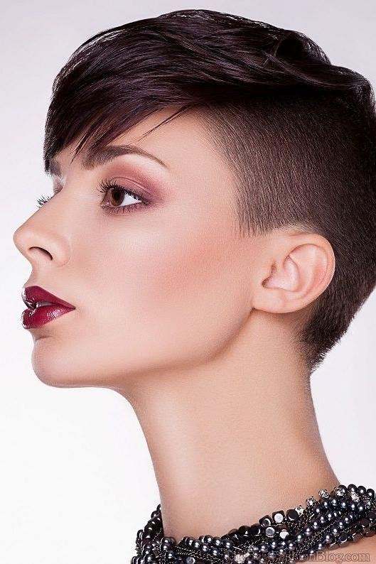 Pixie Haircut Shaved Side Modern Pixie Haircuts For Women 2017 Intended For 2018 Buzzed Pixie Haircuts (View 13 of 20)