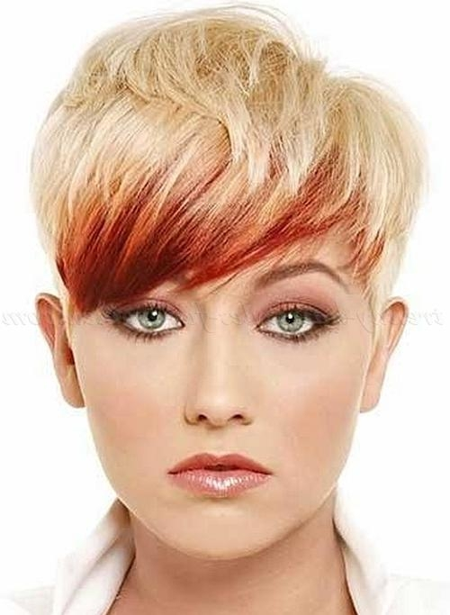 Pixie Haircut – Short Blonde Pixie Haircut With Red Highlights Within Well Known Pixie Haircuts With Highlights (View 15 of 20)
