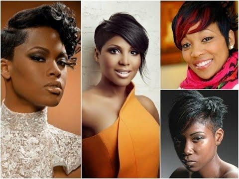 Popular Pixie Haircuts For Black Girl Pertaining To Best Pixie Hairstyles For Black Women – Youtube (View 16 of 20)