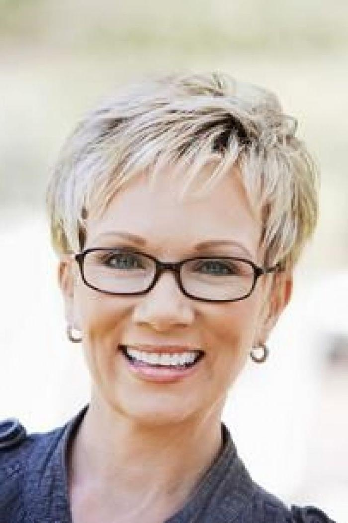 Popular Pixie Haircuts With Glasses Pertaining To Hairstyles For Women Above 50 With Fine Hair And Glasses (View 8 of 20)