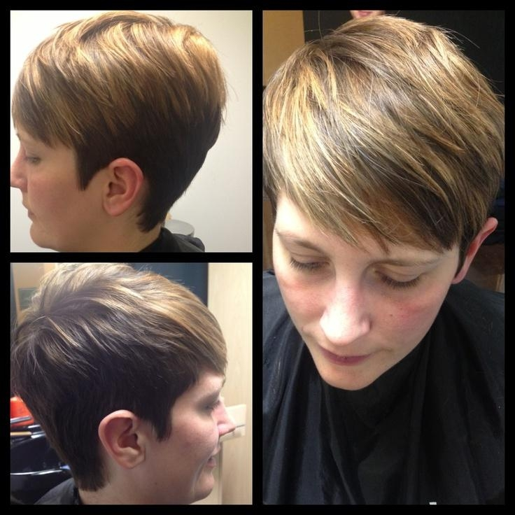 Photo Gallery Of Pixie Haircuts With Highlights Viewing 14 Of 20