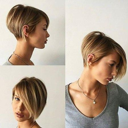 Popular Reverse Pixie Haircuts Intended For Latest Best Pixie Cut 2017 And  (View 14 of 20)