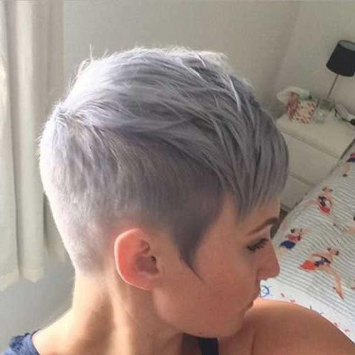 Popular Short Pixie Haircuts For Gray Hair Inside Best 25+ Shaved Sides Pixie Ideas On Pinterest (View 16 of 20)