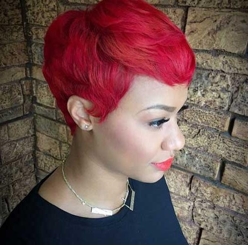 Popular Short Red Pixie Haircuts Regarding Gorgeous Red Pixie Hairstyles (View 15 of 20)