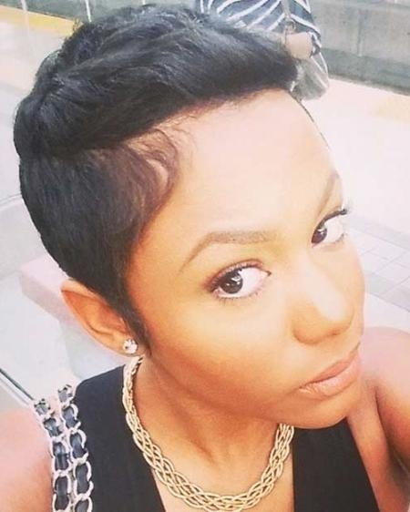Preferred Black Women Short Pixie Haircuts Regarding For Short Pixie Cut For Black Women (View 3 of 20)