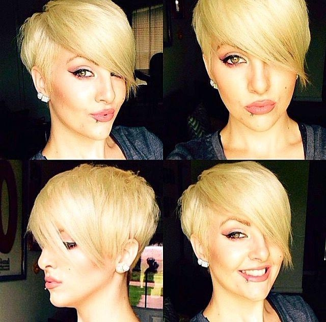 Preferred Pixie Haircuts With Long Sides In Best 25+ Pixie Long Bangs Ideas On Pinterest (View 16 of 20)