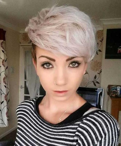 Really Cool Asymmetrical Pixie Cut Pics (View 18 of 20)