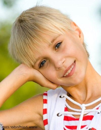 Recent Pixie Haircuts For Little Girl Pertaining To Practical And Easy To Care For Short Pixie Haircut For Little Girls (View 16 of 20)