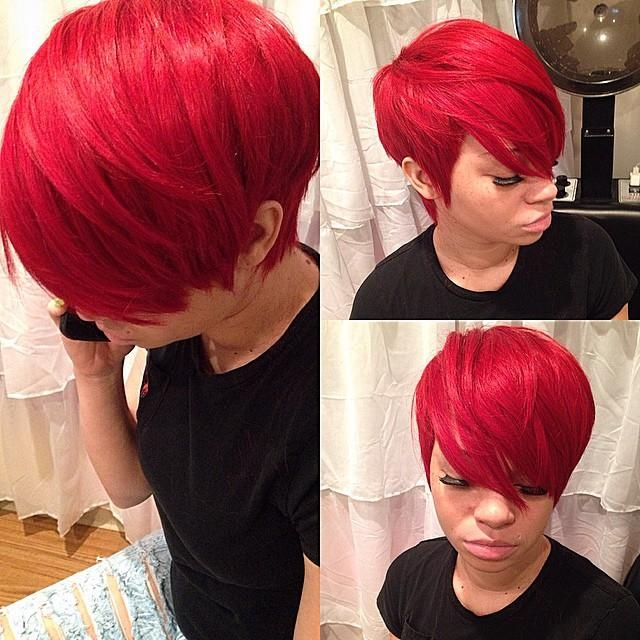 Recent Pixie Haircuts With Weave Inside Yasssss Quick Weave Pixie For The Birthday Gal!!!!! #stlstylist (View 16 of 20)