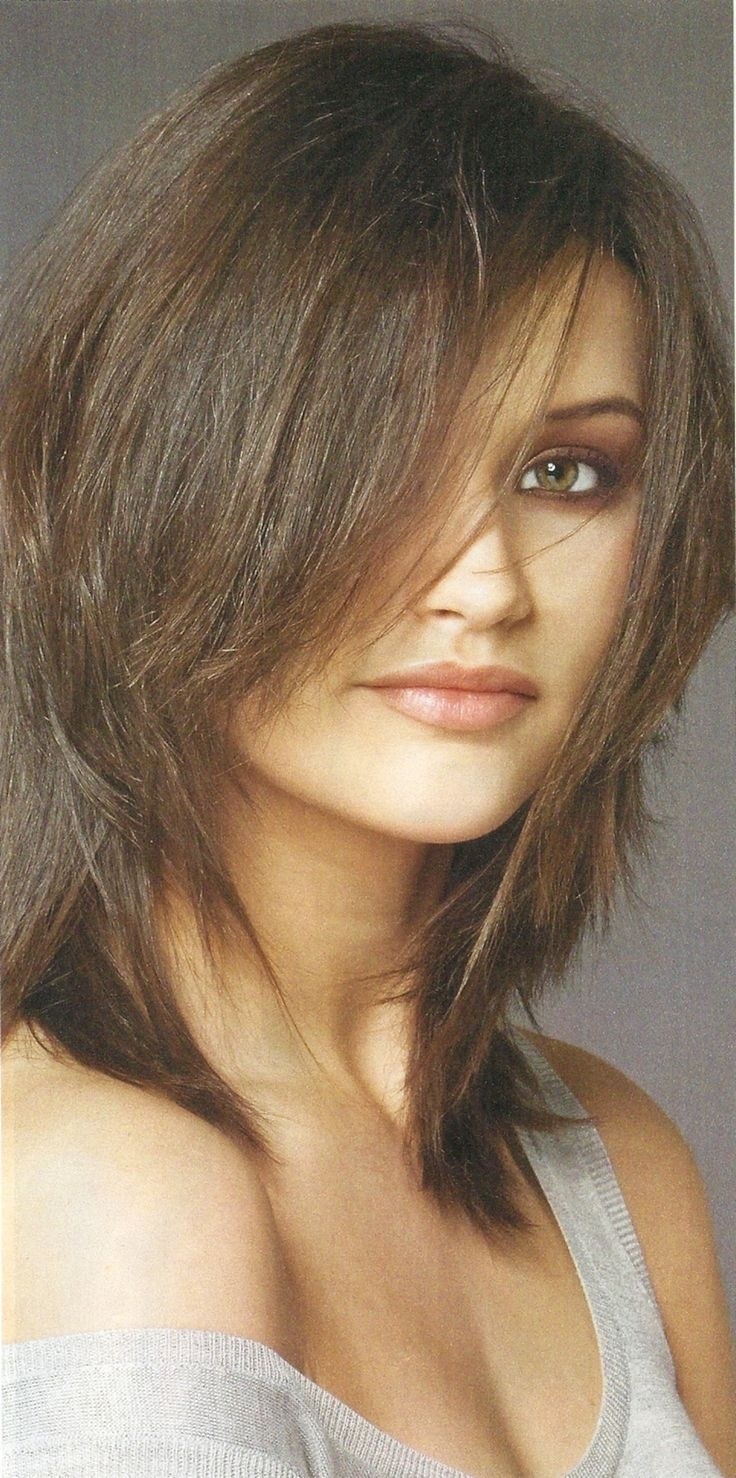 Recent Shaggy Hairstyles For Oval Faces Intended For 21 Best Popular Shag Haircuts Images On Pinterest (View 13 of 15)