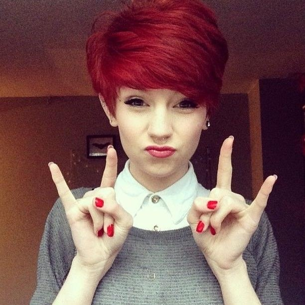 Recent Short Red Pixie Haircuts Inside 18 Short Red Haircuts: Short Hair For Summer&winter – Popular Haircuts (View 11 of 20)