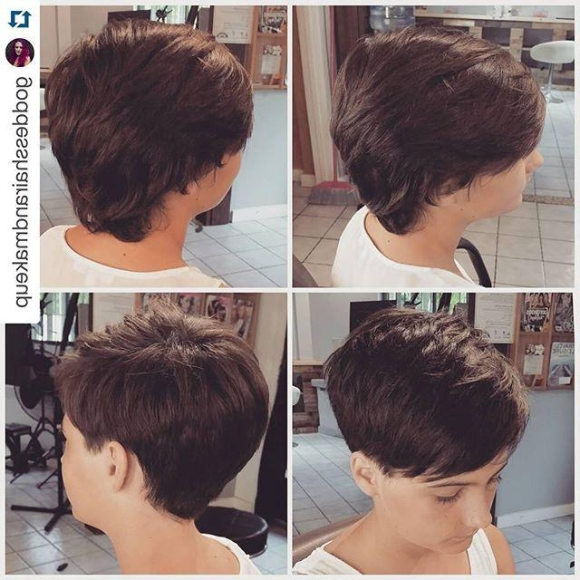 Recent Tapered Pixie Haircuts Pertaining To 23 Chic Pixie Cut Ideas – Popular Short Hairstyles For Women (View 16 of 20)