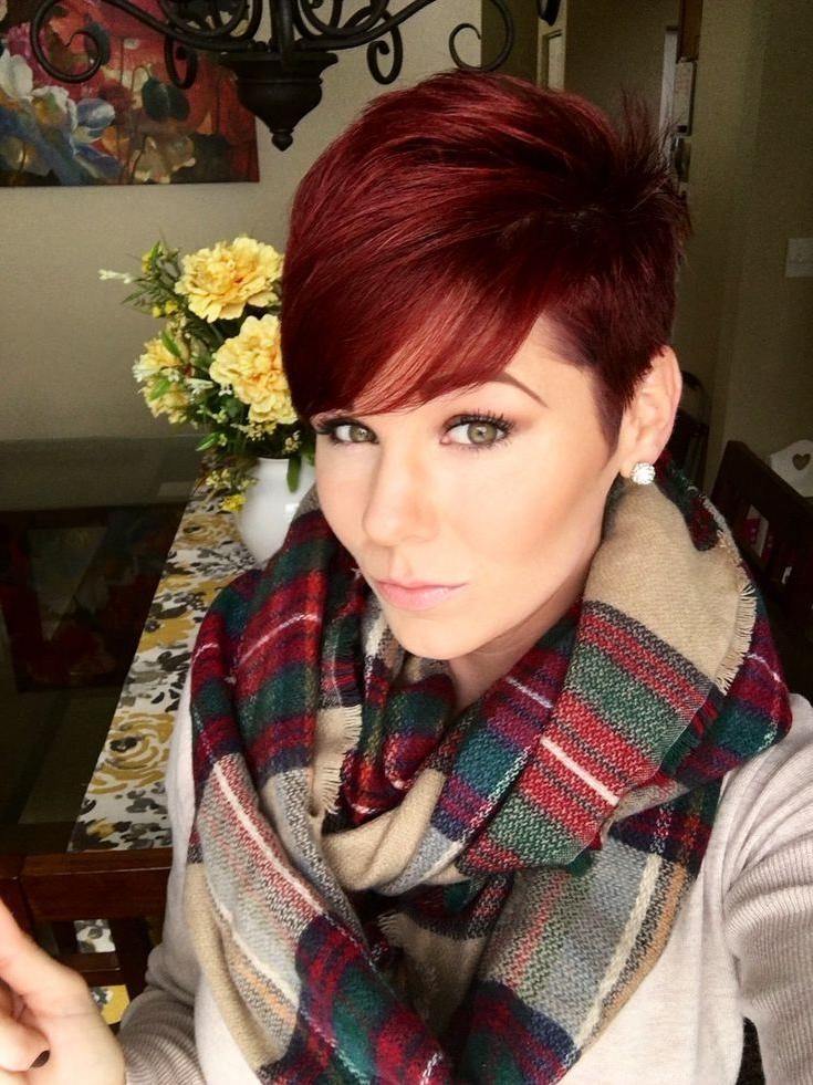 Red Hair Pixie Cut (View 4 of 20)