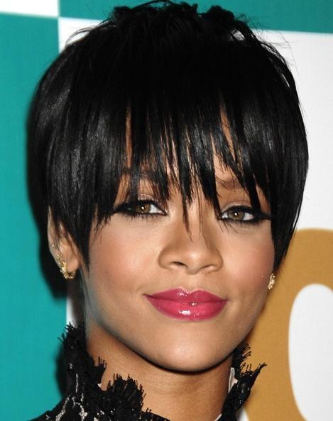 Rihanna Black Pixie Haircuts – Popular Haircuts With Regard To 2017 Rihanna Pixie Haircuts (View 13 of 20)