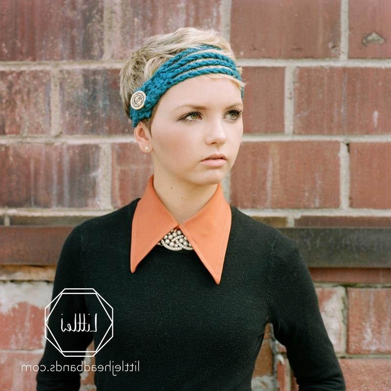 Scarf And Headband Gift Guide – D E L I G H T F U L D E S I G N S Regarding Well Liked Pixie Haircuts With Headband (View 13 of 20)