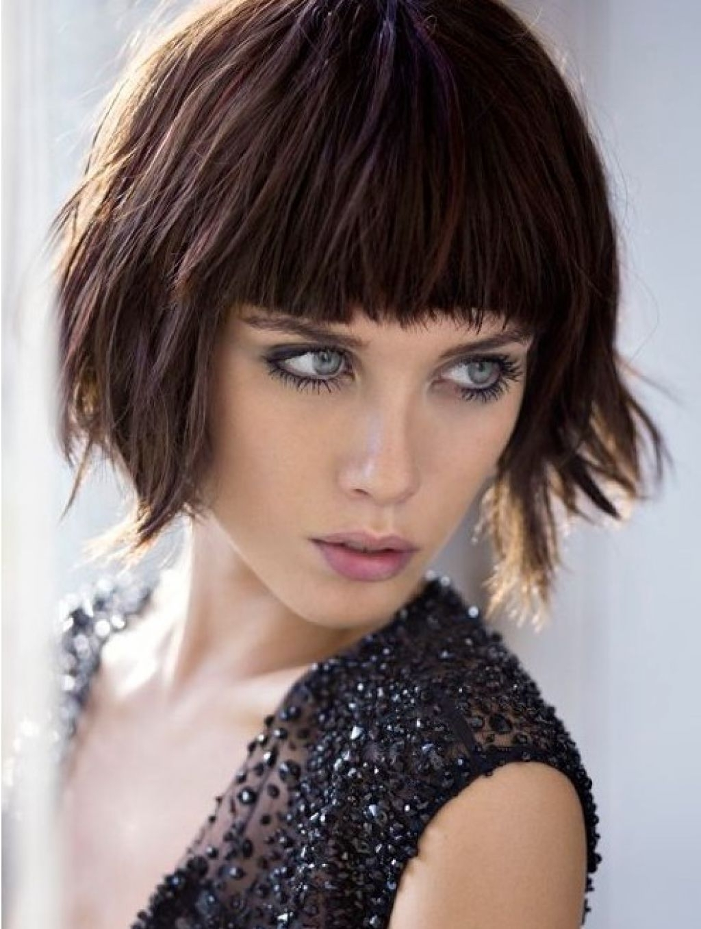 Shaggy Bob Haircuts With Blunt Bangs – Women Medium Haircut In 2018 Shaggy Bob Hairstyles With Bangs (View 3 of 15)