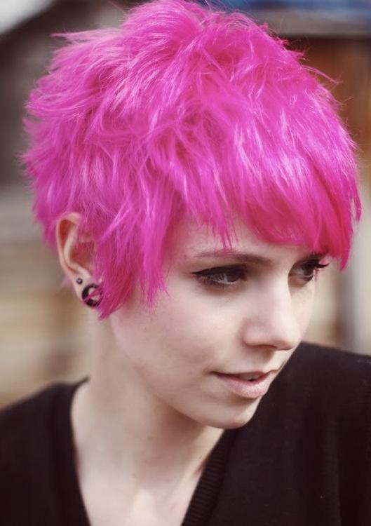 Short Emo Hair Styles – Pixie Haircut – Popular Haircuts Pertaining To Most Up To Date Pink Short Pixie Haircuts (View 17 of 20)