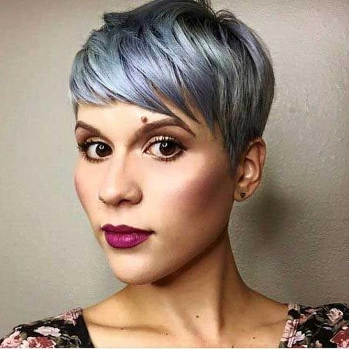 Short Gray Hair In Most Up To Date Grey Pixie Haircuts (View 18 of 20)