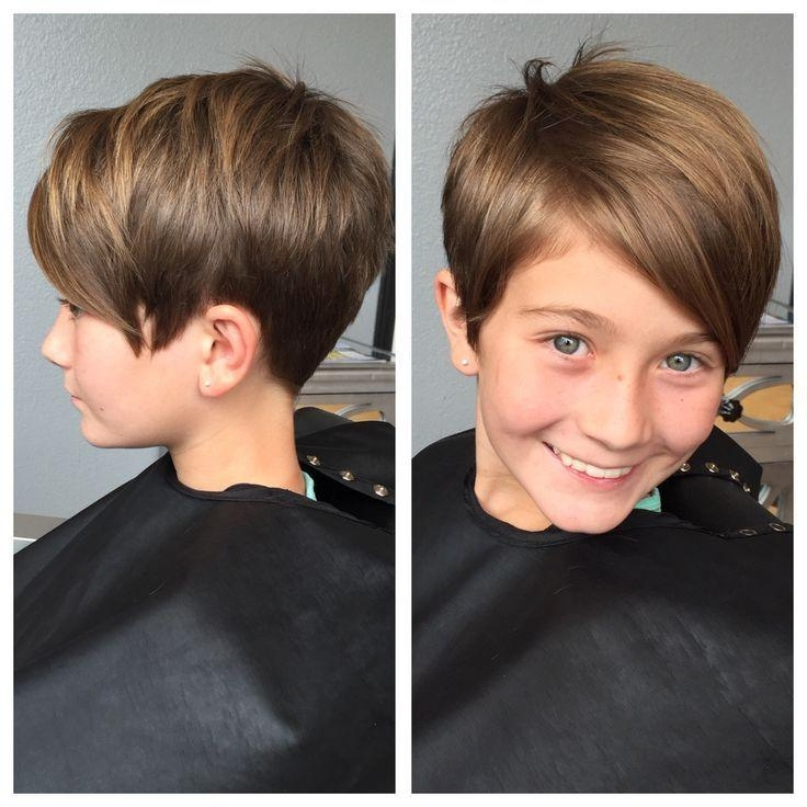 Photo Gallery Of Short Pixie Haircuts For Little Girls Viewing 6 Of